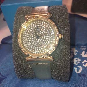Victoria Wieck- Gold Rhinestone Watch